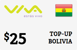 $25.00 Viva Bolivia  Prepaid Wireless Top-Up