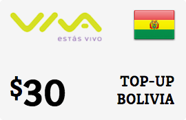 $30.00 Viva Bolivia  Prepaid Wireless Top-Up