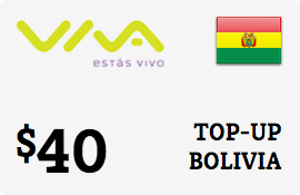 $40.00 Viva Bolivia  Prepaid Wireless Top-Up
