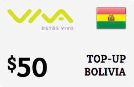 $50.00 Viva Bolivia  Prepaid Wireless Top-Up