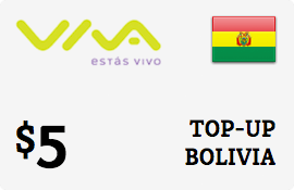 $5.00 Viva Bolivia  Prepaid Wireless Top-Up