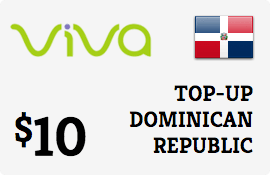 $10.00 Viva Dominican Republic  Prepaid Wireless Top-Up