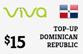 $15.00 Viva Dominican Republic  Prepaid Wireless Top-Up