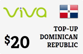$20.00 Viva Dominican Republic  Prepaid Wireless Top-Up