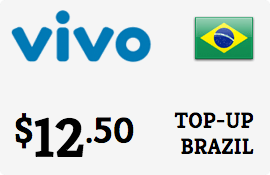 $12.50 Vivo Brazil Prepaid Wireless Top-Up