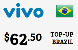 $62.50 Vivo Brazil Prepaid Wireless Top-Up