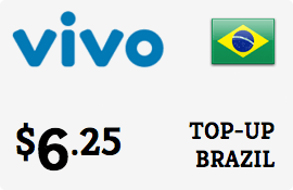 $6.25 Vivo Brazil Prepaid Wireless Top-Up