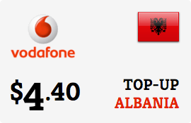$4.40 Vodafone Albania Prepaid Wireless Top-Up