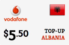 $5.50 Vodafone Albania Prepaid Wireless Top-Up