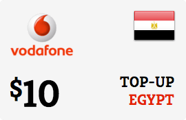 $10.00 Vodafone Egypt Prepaid Wireless Top-Up