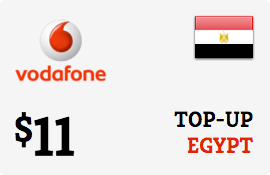 $11.00 Vodafone Egypt Prepaid Wireless Top-Up