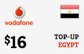 $16.00 Vodafone Egypt Prepaid Wireless Top-Up