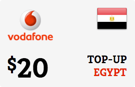 $20.00 Vodafone Egypt Prepaid Wireless Top-Up
