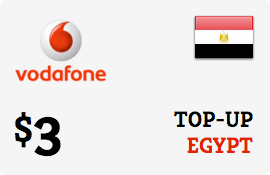 $3.00 Vodafone Egypt Prepaid Wireless Top-Up