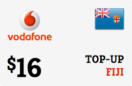 $16.00 Vodafone Fiji Prepaid Wireless Top-Up