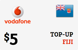 $5.00 Vodafone Fiji Prepaid Wireless Top-Up