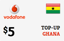 $5.00 Vodafone Ghana Prepaid Wireless Top-Up