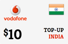$10.00 Vodafone India Prepaid Wireless Top-Up