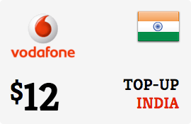 $12.00 Vodafone India Prepaid Wireless Top-Up