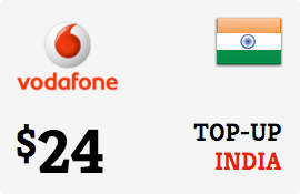$24.00 Vodafone India Prepaid Wireless Top-Up