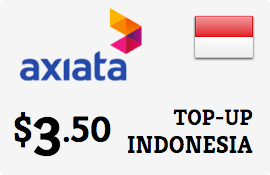 $3.50 XL Axiata Indonesia Prepaid Wireless Top-Up
