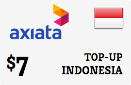 $7.00 XL Axiata Indonesia Prepaid Wireless Top-Up