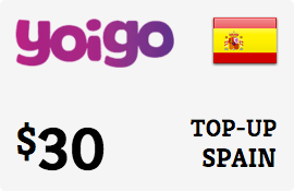 $30.00 Yoigo Spain Prepaid Wireless Top-Up