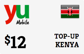 $12.00 Yu Kenya Prepaid Wireless Top-Up