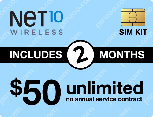 $110.00 Net10® Prepaid Wireless SIM Cards