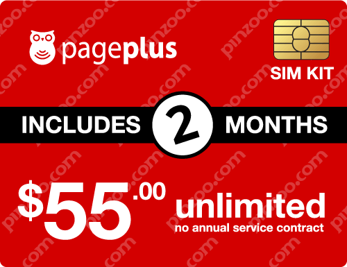 $120.00 Page Plus® Prepaid Wireless SIM Cards
