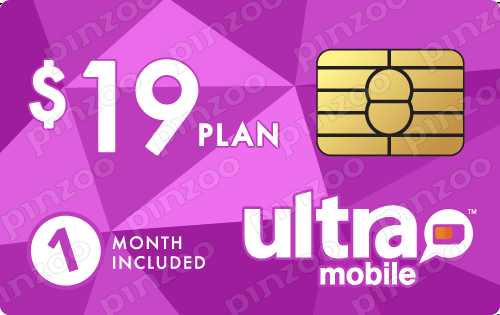 $29.00 Ultra Mobile® Prepaid Wireless SIM Cards