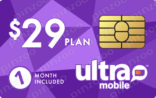 $39.00 Ultra Mobile® Prepaid Wireless SIM Cards