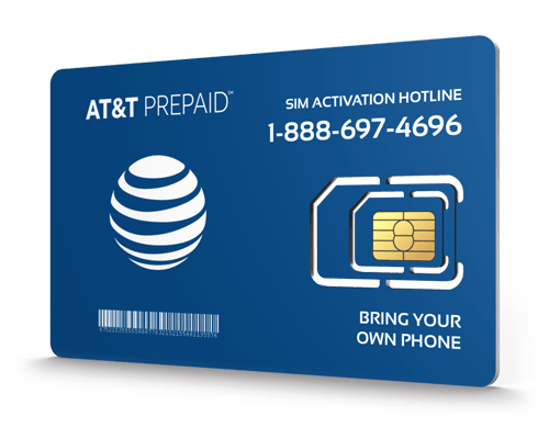 AT&T Prepaid<sup>&reg;</sup> Prepaid Wireless SIM Cards