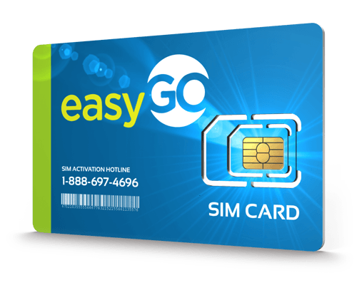 EasyGo Wireless<sup>&reg;</sup> Prepaid Wireless SIM Cards