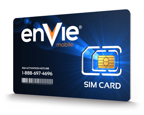 Envie Mobile<sup>&reg;</sup> Prepaid Wireless SIM Cards