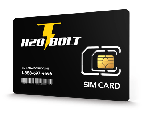H2O Bolt<sup>&reg;</sup> Prepaid Wireless SIM Cards