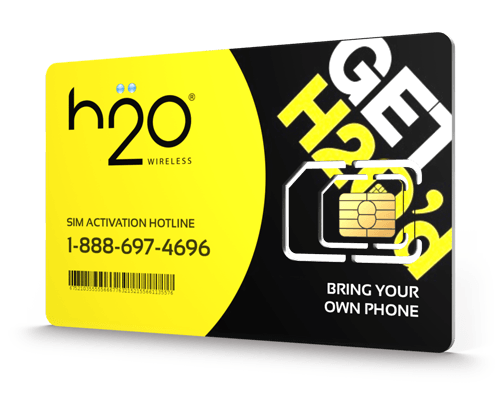 H2O Wireless<sup>&reg;</sup> Prepaid Wireless SIM Cards