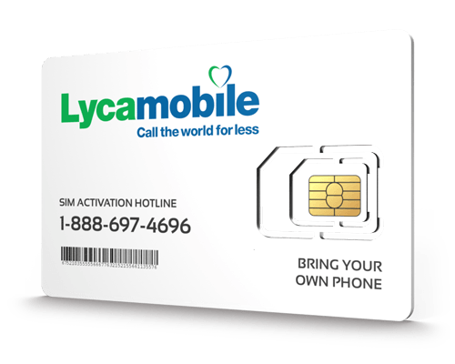 Lyca Mobile<sup>&reg;</sup> Prepaid Wireless SIM Cards