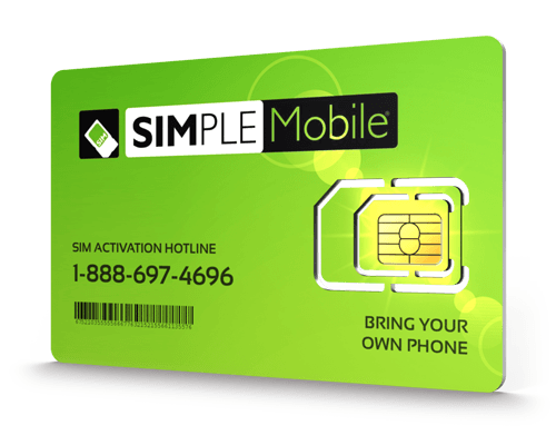 Simple Mobile<sup>&reg;</sup> Prepaid Wireless SIM Cards