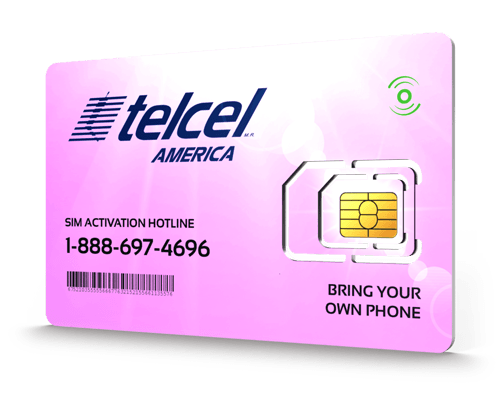 Telcel America<sup>®</sup> Prepaid Wireless SIM Cards