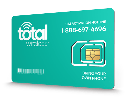 Total Wireless<sup>®</sup> Prepaid Wireless SIM Cards