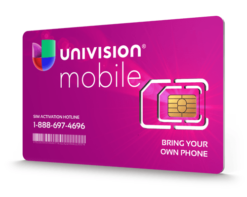 Univision Mobile<sup>&reg;</sup> Prepaid Wireless SIM Cards