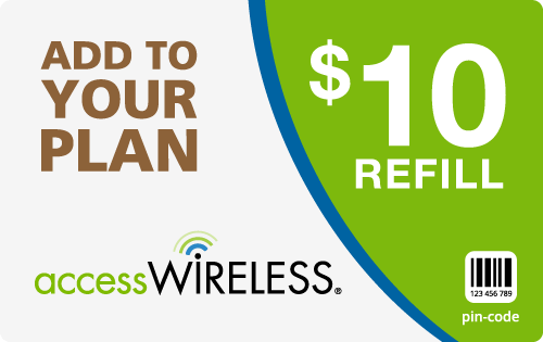 $9.79 Access Wireless® Refill Minutes Instant Prepaid Airtime