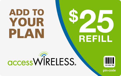 $24.49 Access Wireless® Refill Minutes Instant Prepaid Airtime