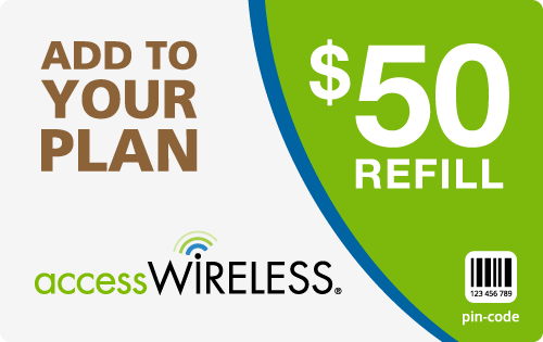 $48.99 Access Wireless® Refill Minutes Instant Prepaid Airtime