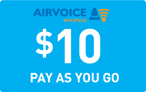 $9.95 Airvoice Wireless® Refill Minutes Instant Prepaid Airtime