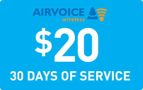 $19.90 Airvoice Wireless® Refill Minutes Instant Prepaid Airtime