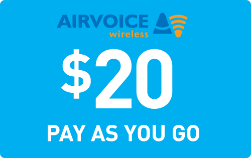$19.89 Airvoice Wireless® Refill Minutes Instant Prepaid Airtime