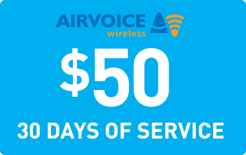 $49.79 Airvoice Wireless® Refill Minutes Instant Prepaid Airtime