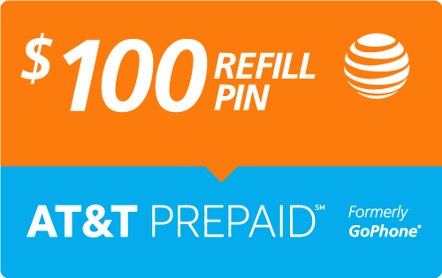 $98.99 AT&T Go Phone® Refill Minutes Instant Prepaid Airtime